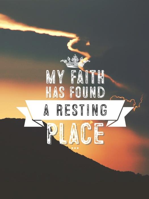 My Faith Has Found - graphic